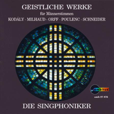 SP Cover Geistliche Werke für Männserstimmen